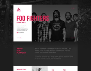 Trianglify Music Branding and Responsive Website