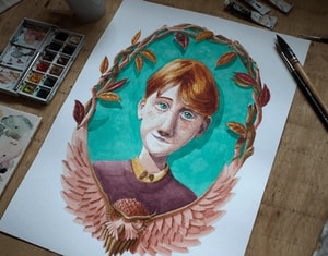 Ron Weasley iIllustration - A3 Watercolour