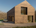 3D minimalist wooden house